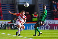 Matty Blair of Doncaster Rovers (17) clears the ball during the EFL Sky Bet League 1 match between Doncaster Rovers and Coventry City at the Keepmoat Stadium, Doncaster, England on 4 May 2019.