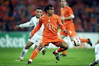 Fotball<br /> VM-kvalifisering<br /> Nederland v Armenia<br /> 30. mars 2005<br /> Foto: Digitalsport<br /> NORWAY ONLY<br /> giovanni van bronckhorst