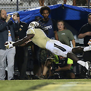 ORLANDO, FL - OCTOBER 09:  Breshad Perriman #11 of the UCF Knights can not stay in bounds on a catch in overtime at Bright House Networks Stadium on October 9, 2014 in Orlando, Florida. (Photo by Alex Menendez/Getty Images) *** Local Caption *** Breshad Perriman