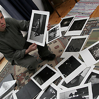 Christy McNamara, photographer to U2 at his studio's in Spancill Hill.<br /> <br /> Photograph by Yvonne Vaughan.