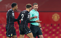 MANCHESTER, ENGLAND - Friday, January 1, 2020: Referee Michael Oliver awards a penalty to Manchester United during the New Year's Day FA Premier League match between Manchester United FC and Aston Villa FC at Old Trafford. The game was played behind closed doors due to the UK government putting Greater Manchester in Tier 4: Stay at Home during the Coronavirus COVID-19 Pandemic. (Pic by David Rawcliffe/Propaganda)