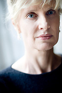 Writer Siri Hustvedt at her and her husband Paul Auster's home in Brooklyn, New York..Photographer Chris Maluszynski /MOMENT