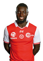Grejohn Kyei of Reims during the photocall of Reims for new season of Ligue 2 on September 29th 2016 in Reims<br /> Photo : Stade de Reims / Icon Sport