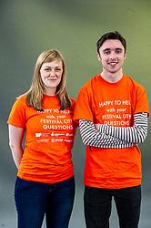 Pictured: Volunteers are always smiling at the Edinburgh International Book Festival<br /><br />Ger Harley   EEm 10 August 2019