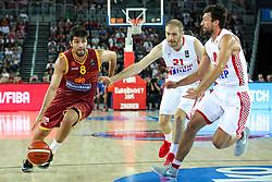 Vojdan Stojanovski of Macedonia during basketball match between Croatia vs Macedonia at Day 4 in Group C of FIBA Europe Eurobasket 2015, on September 8, 2015, in Arena Zagreb, Croatia. Photo by Matic Klansek Velej / Sportida