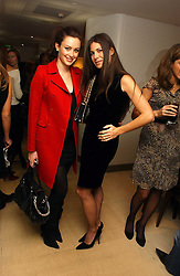 Left to right, CAMILLA AL FAYED and ELIZABETH SALTZMAN at a lunch hosted by Fawaz Gruosi to celebrate the launch of De Grisogono's latest watch 'Be Eight' held at Nobu, 19 Old Park Lane, London W1 on 30th November 2006.<br /><br />NON EXCLUSIVE - WORLD RIGHTS
