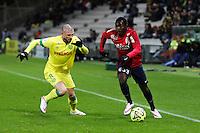 Adama TRAORE / Vincent BESSAT - 31.01.2015 - Nantes / Lille - 23eme journee de Ligue 1 -<br />Photo : Vincent Michel / Icon Sport
