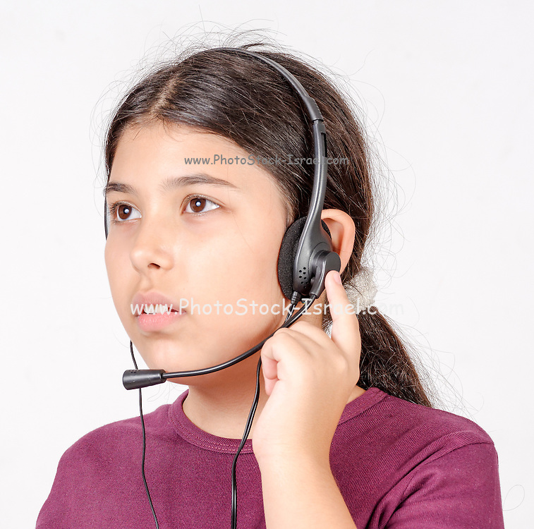 young Girl of 9 works at a call centre