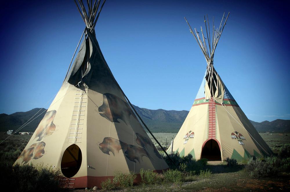 Tepee's, New Mexico, USA