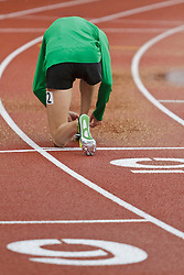 Men's Steeplechase, Evan Jager, warmup