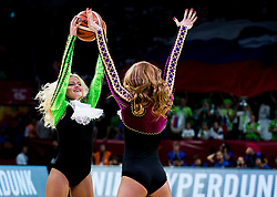 Cheerleaders Red Foxes perform during basketball match between National Teams of Slovenia and Spain at Day 15 in Semifinal of the FIBA EuroBasket 2017 at Sinan Erdem Dome in Istanbul, Turkey on September 14, 2017. Photo by Vid Ponikvar / Sportida