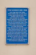 05-10-2019 Schotland - St Andrews, bord Tom Morris, The New Golf Club