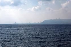 ISRAEL HAIFA 7JUL10 - View of the Israeli coast near Haifa from the Mediterranean Sea...jre/Photo by Jiri Rezac