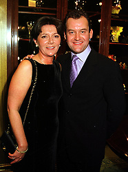 MR & MRS PAUL BURRELL he is the former butler of the late Diana, Princess of Wales, at a reception in London on 5th October 1999.MXD 18