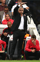 Manchester United manager Jose Mourinho during the game