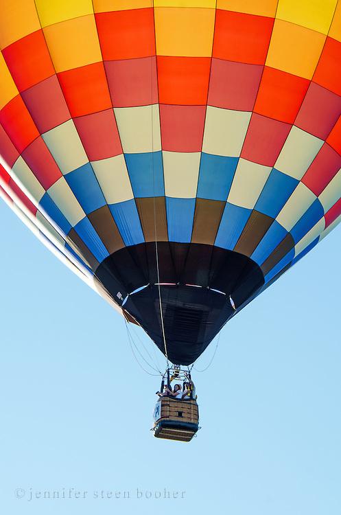 Passenger basket dangling beneath 'Aerloon,' Crown of Maine Balloon Fair, Presque Isle, Maine.