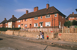 Housing estate with semidetached houses,