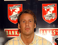 MERSON....PIC TIM EASTHOPE.2..... Pictured is soccer star Paul Merson signing for Walsall from Portsmouth