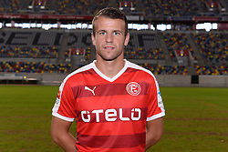02.07.2015, Esprit Arena, Duesseldorf, GER, 2. FBL, Fortuna Duesseldorf, Fototermin, im Bild Lukas Schmitz ( Fortuna Duesseldorf / Portrait ) // during the official Team and Portrait Photoshoot of German 2nd Bundesliga Club Fortuna Duesseldorf at the Esprit Arena in Duesseldorf, Germany on 2015/07/02. EXPA Pictures © 2015, PhotoCredit: EXPA/ Eibner-Pressefoto/ Thienel<br /> <br /> *****ATTENTION - OUT of GER*****