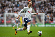 Christian Eriksen of Tottenham Hotspur in action. <br /> Premier league match, Tottenham Hotspur v AFC Bournemouth at Wembley Stadium in London on Saturday 14th October 2017.<br /> pic by Kieran Clarke, Andrew Orchard sports photography.