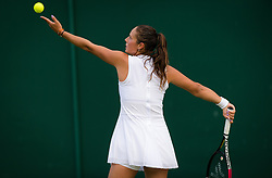 July 1, 2019 - London, GREAT BRITAIN - Daria Kasatkina of Russia in action during her first round match at the 2019 Wimbledon Championships Grand Slam Tennis Tournament against Ajla Tomljanovic of Australia (Credit Image: © AFP7 via ZUMA Wire)