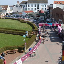 10-04-2016: Wielrennen: Energiewachttour vrouwen: Borkum  <br /> BORKUM (GER) wielrennen  De slotetappe van de Energiewachttour was een etappe op het Duitse Waddeneiland Borkum. Passage finish