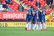 Southend United celebrates their goal by Southend United forward Stephen Humphrys (39) (0-1) during the EFL Sky Bet League 1 match between Charlton Athletic and Southend United at The Valley, London, England on 9 February 2019.