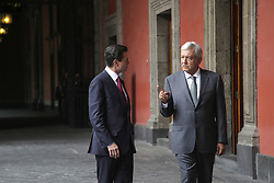 July 3, 2018 - Mexico, Ciudad De Mexico, MEXICO - President elect, Andres Manuel Lopez Obrador and Mexican President Peña Nieto meet to talk about issues and transition on Tuesday July 3, 2018 in Mexico City. (Credit Image: © Prensa Internacional via ZUMA Wire)