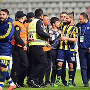 Fenerbahce's Diego (R) during their Turkish Super League soccer match Akhisar Belediye Genclik Spor between Fenerbahce at the 19 Mayis Stadium in Manisa Turkey on Sunday, 06 March 2016. Photo by TURKPIX
