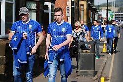 Sheffield Wednesday fans make their way to the stadium - Mandatory by-line:  Matt McNulty/JMP - 24/09/2017 - FOOTBALL - Hillsborough - Sheffield, England - Sheffield Wednesday v Sheffield United - Sky Bet Championship