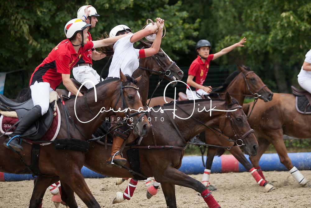 De Pauw Bjorn, BEL, Totoman<br /> Deltopull 1 vs. Deltopull 2 - Horseball Event 2017© Hippo Foto - Sharon Vandeput<br /> 2/07/17