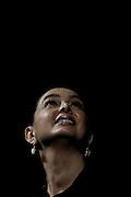 Il presidente della Camera Laura Boldrini al Teatro Eliseo durante la presentazione del libro di Walter Veltroni 'E se noi domani'<br /> Roma - 03 Giugno 2013. Matteo Ciambelli / OneShot