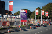 Shorncliffe Heights, a brand new Taylor Wimpey housing development being built on the former Ministry Of Defence military site of Shorncliffe Barracks on the 15th of September 2020 in Folkestone, United Kingdom.  This was part of Shorncliffe military base, the MOD have sold off large parts of land in recent years for housing development.