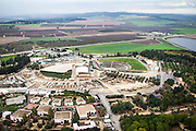 Aerial view of Latron Mandate police station now IDF Armoured Corps Museum