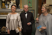 INNA BAZHENOVA; PROFESSOR MIKHAIL PIOTROVSKY; ANNA SOMERS COCKSProfessor Mikhail Piotrovsky Director of the State Hermitage Museum, St. Petersburg and <br /> Inna Bazhenova Founder of In Artibus and the new owner of the Art Newspaper worldwide<br /> host THE HERMITAGE FOUNDATION GALA BANQUET<br /> GALA DINNER <br /> Spencer House, St. James's Place, London<br /> 15 April 2015
