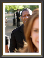 Denzel Washington at Nelson Mandelas Birthday in hyde park A3 Museum-quality Archival signed Framed Print £750