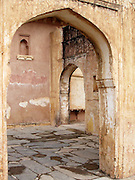 Courtyards in the Amber Palace, Amer, Rajasthan.