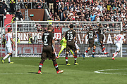 FUSSBALL: 2. Bundesliga, FC St. Pauli . 1. FC Koeln 3:5 Hamburg, 02.09.2018<br /> Jeremy Dudziak (Pauli) erzielt das 1:0<br /> © Torsten Helmke