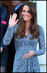 The Duchess of Cambridge leaves Hope House in South London, Tuesday February 19, 2013. Photo by Andrew Parsons / i-Images