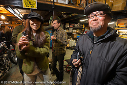 Inside the Blue Groove shop after the ride from Kamakura to Miura Penninsula. Japan. Monday December 4, 2017. Photography ©2017 Michael Lichter.