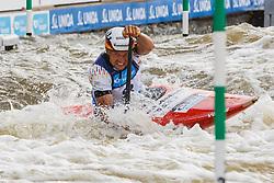 Anton Franz (GER) competes in Semi-Finals during Day 3 of 2018 ECA Kayak - Canoe Slalom European Championships, on June 3rd, 2018 in Troja , Prague, Czech Republic. Photo by Grega Valancic / Sportida