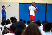 Harrison Barnes basketball camp in Dallas, Texas on June 10, 2017. (Cooper Neill for The Players Tribune)
