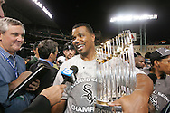 HOUSTON - OCTOBER 26:  Ken Williams of the Chicago White Sox celebrates after Game 4 of the 2005 World Series against the Houston Astros at Minute Maid Park on October 26, 2005 in Chicago, Illinois.  The White Sox defeated the Astros 1-0.