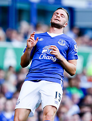 Everton's Tom Cleverley looks dejected - Mandatory byline: Matt McNulty/JMP - 07966386802 - 08/08/2015 - FOOTBALL - Goodison Park -Liverpool,England - Everton v Watford - Barclays Premier League