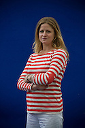 American journalist and author Liza Klaussmann, pictured at the Edinburgh International Book Festival where she talked about her new novel entitled 'Tigers in Red Weather'. The three-week event is the world's biggest literary festival and is held during the annual Edinburgh Festival. The 2012 event featured talks and presentations by more than 500 authors from around the world..
