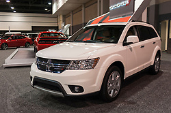 CHARLOTTE, NC, USA - November 11, 2015: Dodge Journey on display during the 2015 Charlotte International Auto Show at the Charlotte Convention Center in downtown Charlotte.
