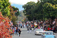 South Main Street in Salinas is ablaze with color during Monday's 3rd Annual Monterey County Veterans Parade.