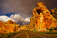 BOULDER, Utah - 20 May 2020 - Clouds come in over Utah State Route 12 near Calf Creek, south of the small town of Boulder in the US state of Utah. Picture: Ryan Eyer