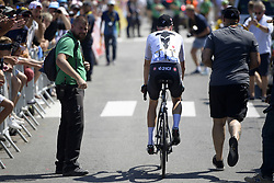July 10, 2018 - Sarzeau, FRANCE - British Chris Froome of Team Sky and his personal bodyguard pictured before the start of the fourth stage of the 105th edition of the Tour de France cycling race, from La Baule to Sarzeau (195km), in France, Tuesday 10 July 2018. This year's Tour de France takes place from July 7th to July 29th. BELGA PHOTO YORICK JANSENS - FRANCE OUT (Credit Image: © Yorick Jansens/Belga via ZUMA Press)