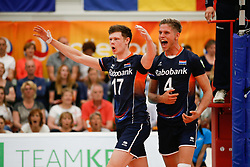 20170524 NED: 2018 FIVB Volleyball World Championship qualification, Koog aan de Zaan<br />Michael Parkinson (17) of The Netherlands, Thijs Ter Horst (4) of The Netherlands <br />©2017-FotoHoogendoorn.nl / Pim Waslander